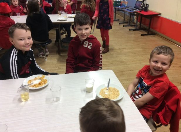 Red Themed Day Organised by the P7 Pupil Council